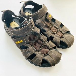 Teva Men's Brown Black ShocPad Summer Sandals